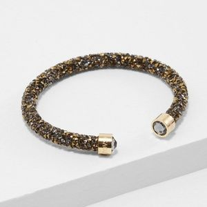 Swarovski Crystal Cuff Bracelet Gold Tone Plated